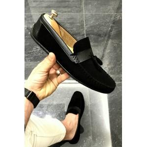 Süet Siyah Ayakkabı - OLD 401