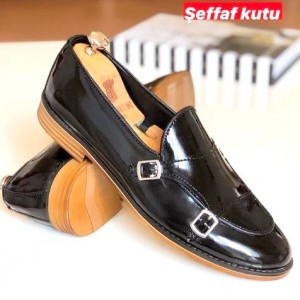 Siyah Rugan Ayakkabı - A 511