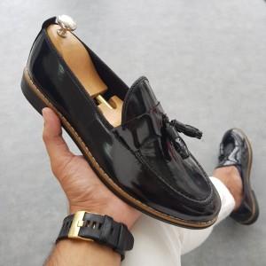 Siyah Rugan Ayakkabı - OLD 4085