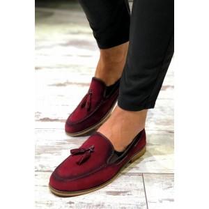 Bordo Süet Ayakkabı - A 132