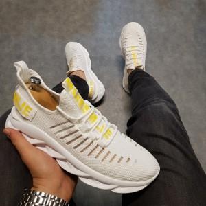 Erkek Spor Ayakkabı Beyaz BA0602b