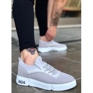 Erkek Spor Ayakkabı Gri BA098g