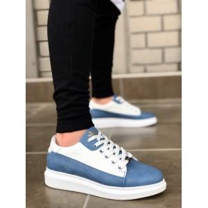 Erkek Spor Ayakkabı Kot Mavi W028m