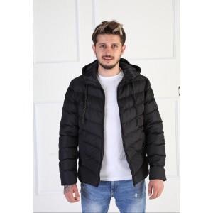 SİYAH KAPŞONLU MONT -010