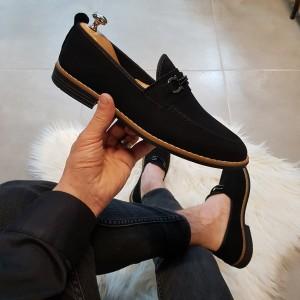 Siyah Süet Ayakkabı - OLD 4061