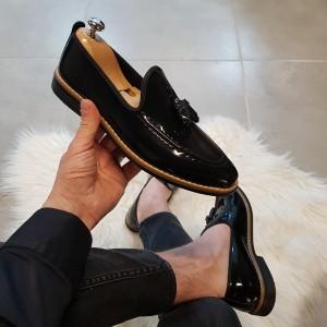 Siyah Rugan Ayakkabı - OLD 4041