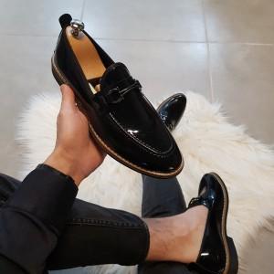 Siyah Rugan Ayakkabı - OLD 4071