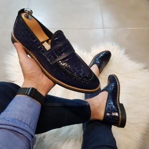 Lacivert Rugan Ayakkabı - OLD 4152
