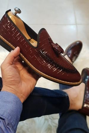 Bordo Rugan Ayakkabı - OLD 4034