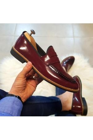 Bordo Rugan Ayakkabı - OLD 4104