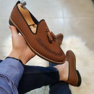 Taba Kareli Ayakkabı - OLD 4003