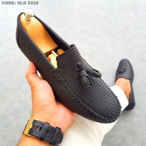 Siyah Kareli Ayakkabı - OLD 5220